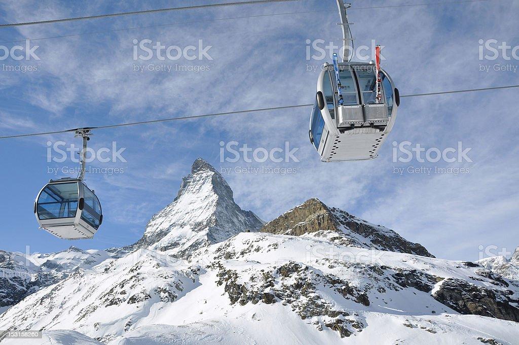 The famous swiss mountain Matterhorn royalty-free stock photo