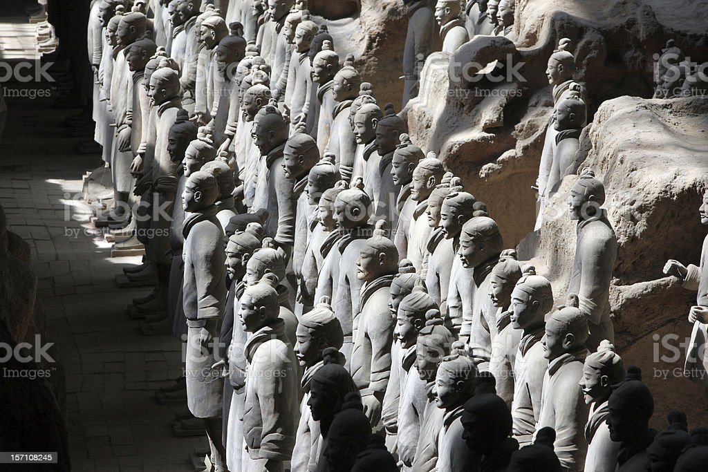 The famous terracotta warriors of XiAn royalty-free stock photo