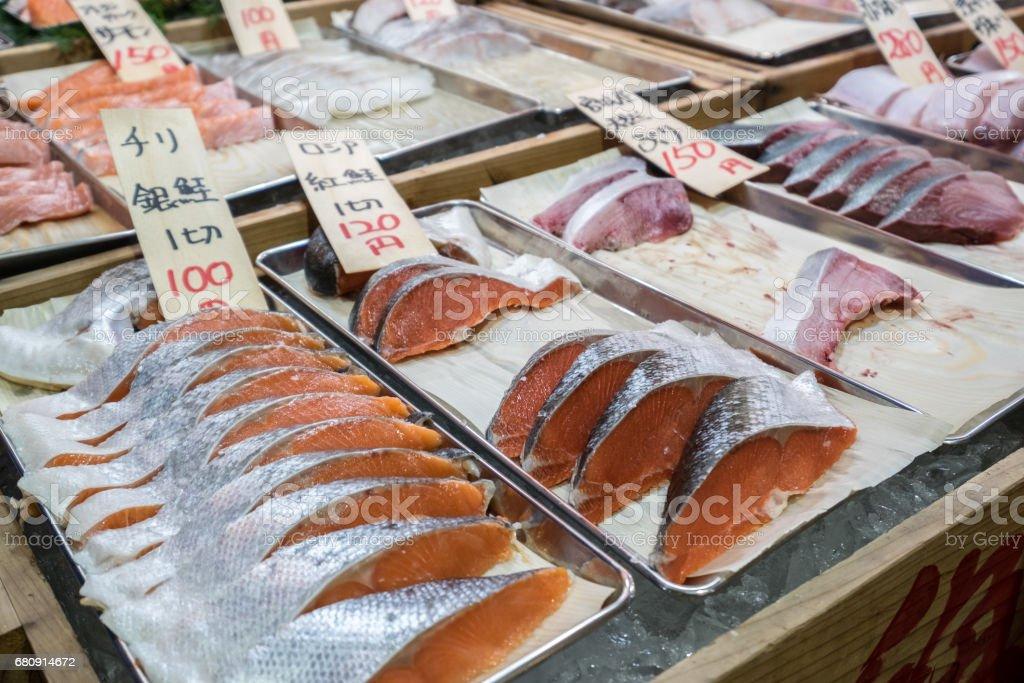 The famous tokyo fish market royalty-free stock photo