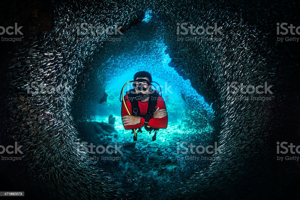 The famous tunnel stock photo