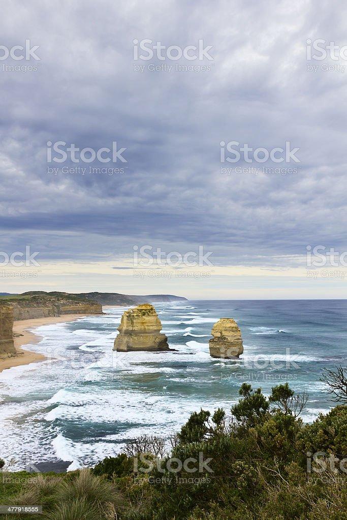 The famous Twelve Apostles in South Australia. royalty-free stock photo