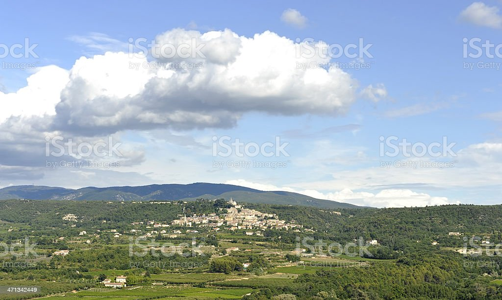 The Famous village of Bonnieux - Luberon stock photo