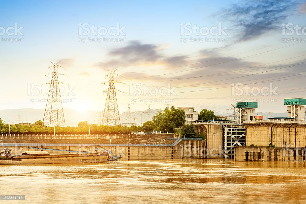 The famous water conservancy project: Gezhouba stock photo