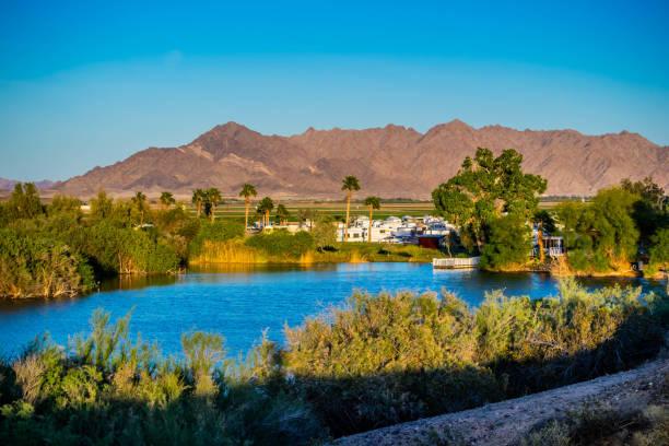 The famous Yuma Lakes in Yuma, Arizona stock photo
