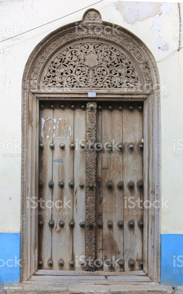 The famous Zanzibar doors in Stone Town Tanzania royalty-free stock photo & The Famous Zanzibar Doors In Stone Town Tanzania stock photo | iStock pezcame.com