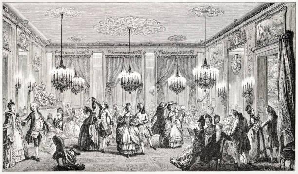 de mooie bal, 18e eeuwse frankrijk - 18e eeuw stockfoto's en -beelden
