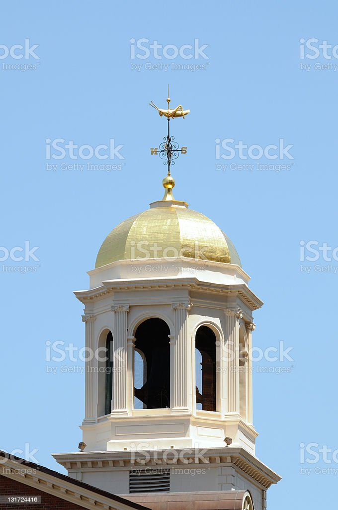 The Faneuil Hall Grasshopper Weathervane royalty-free stock photo