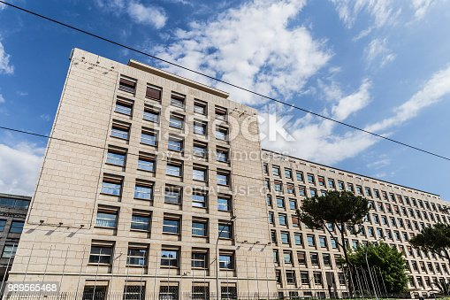 Rome, Italy - June 16 2018: The FAO Building, international headquarters of the Food and Agriculture Organization