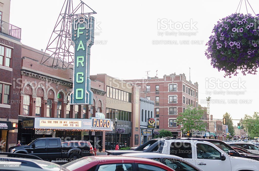 The Fargo Theatre In Downtown Fargo, North Dakota stock photo