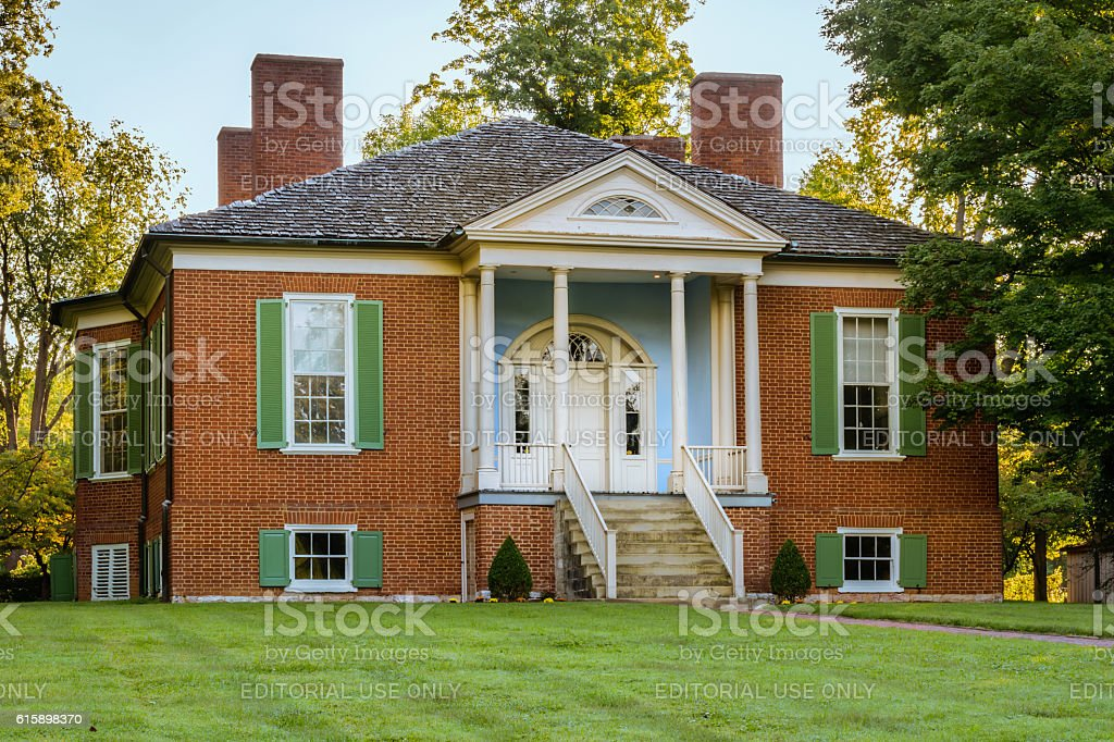 The Farmington Plantation - Louisville Kentucky stock photo