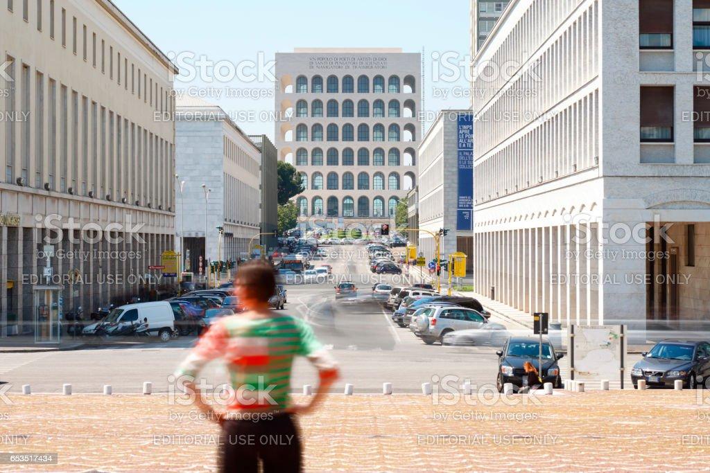 EUR the fascism architecture stock photo