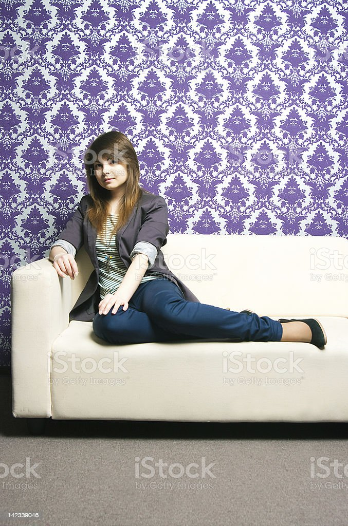 The fashionable girl royalty-free stock photo