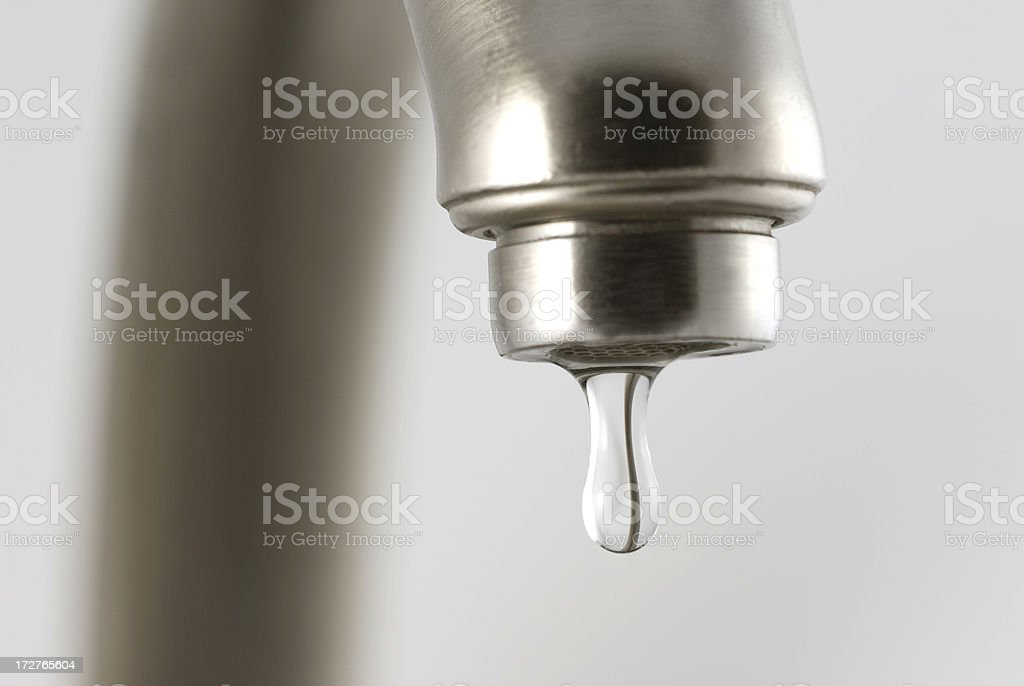 The Faucet Drips royalty-free stock photo
