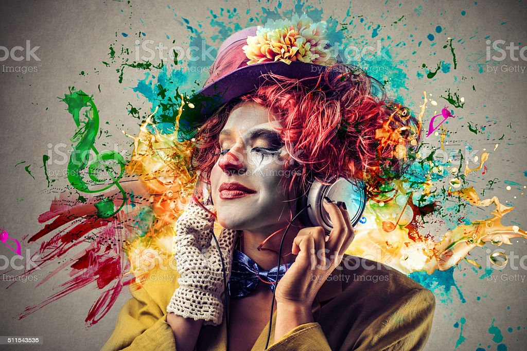 The Female Clown stock photo