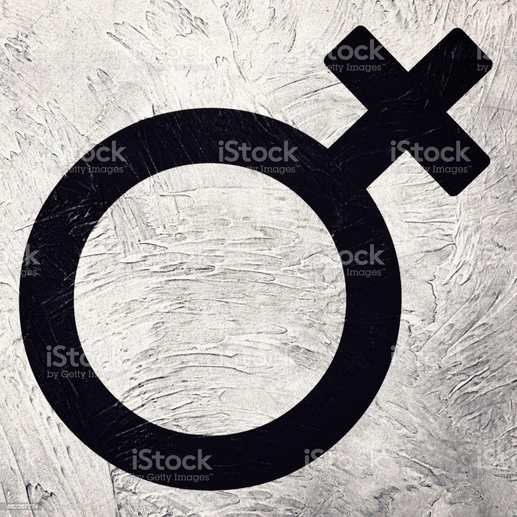 Het symbool van het vrouwelijk geslacht. Retro-stijl. royalty free stockfoto