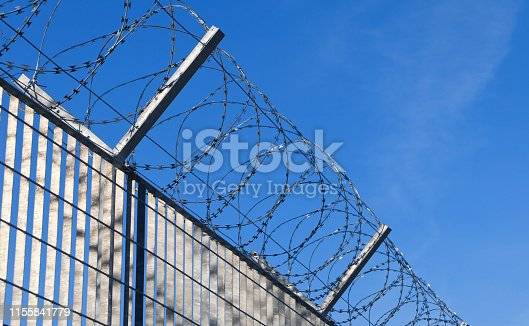 The Fence - Razor wire at the border
