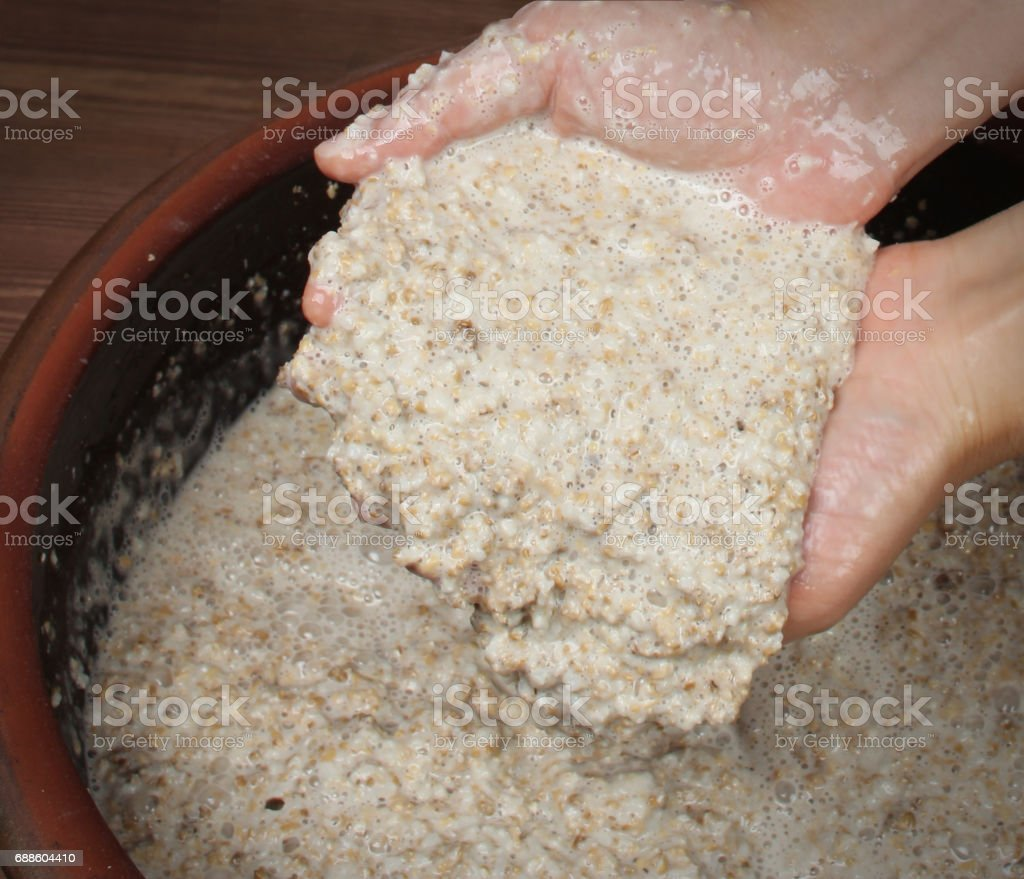 The fermentation filtrate stock photo