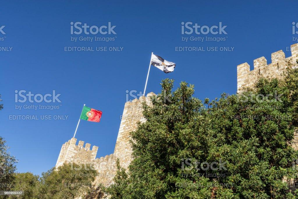 The Fernadina Wall fortress of Lisbon, Portugal - Royalty-free Architecture Stock Photo