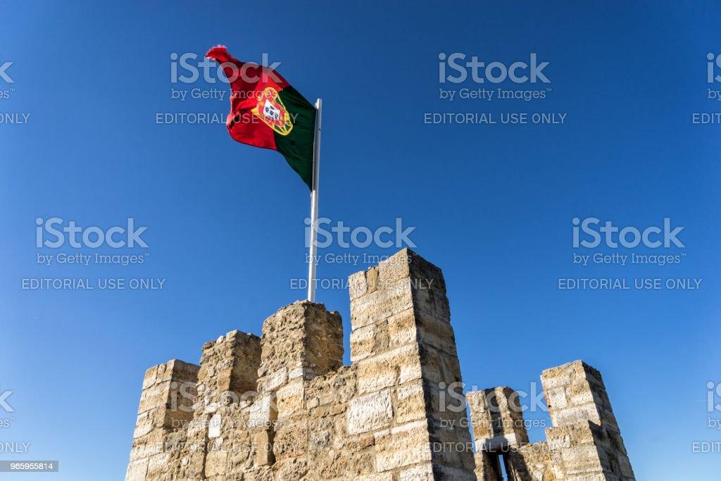 De vesting van de Fernadina muur van Lissabon, Portugal - Royalty-free Architectuur Stockfoto