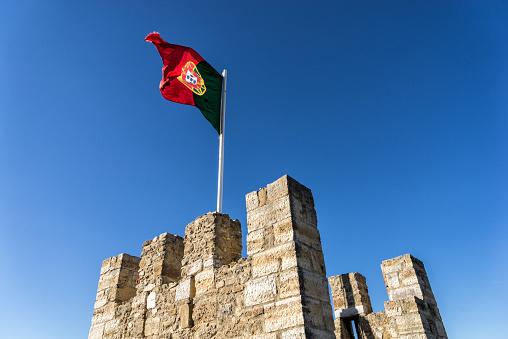 De Vesting Van De Fernadina Muur Van Lissabon Portugal Stockfoto en meer beelden van Architectuur