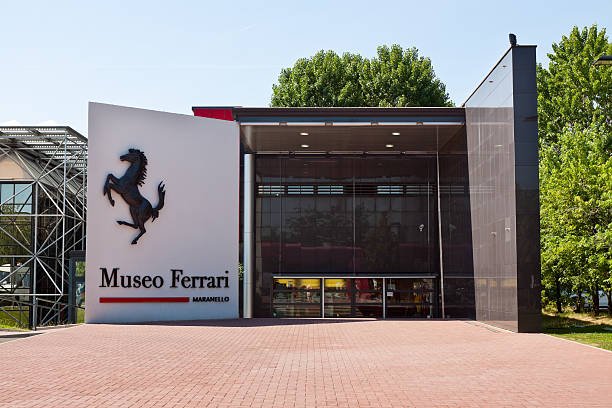 The Ferrari Museum Maranello, Italy - May 30, 2011: The Ferrari Museum, based in Maranello, contains the most prestigious models, the main Formula 1 racers, the Sports and Sports-Prototypes models, the Grand Tourers and special series, cars that have made the Ferrari's Prancing Horse history. status symbol stock pictures, royalty-free photos & images
