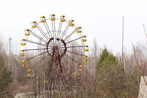 The Ferris wheel is in the priply.