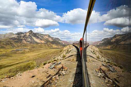 istock The Ferrocaril Central Andino train, the worlds second highest railroad, crosses the Andes en route from Lima to Huancayo, Peru. 938262476