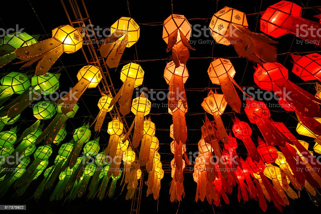 The festival of lights stock photo