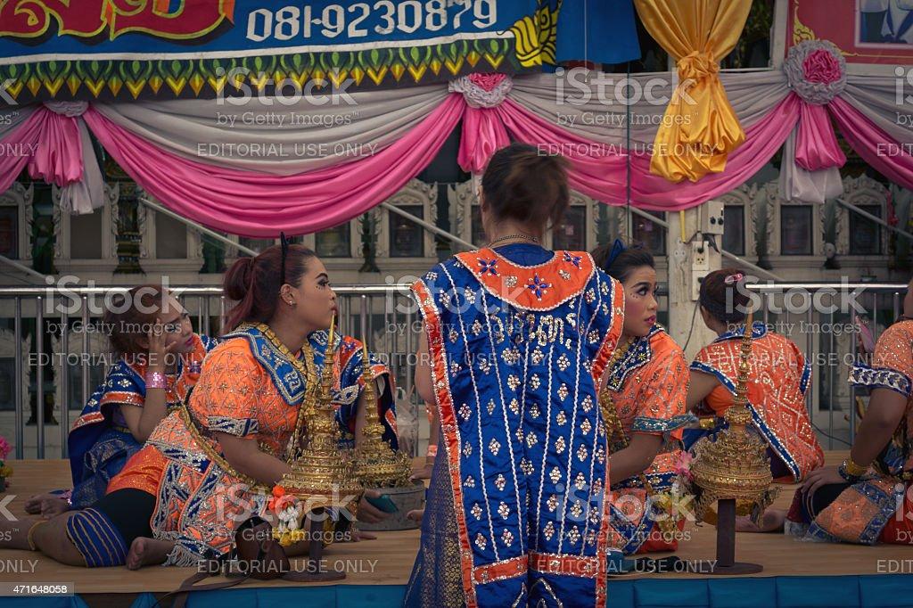 The Festival Wat Rai Khing stock photo