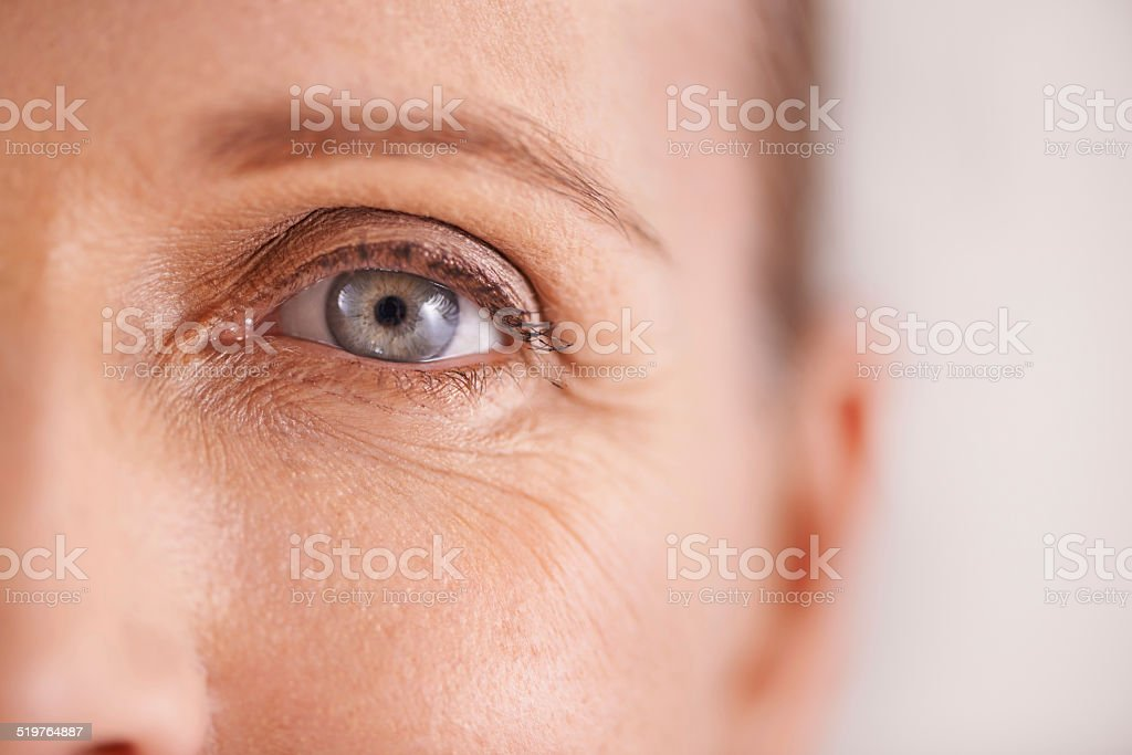 The fight against wrinkles stock photo
