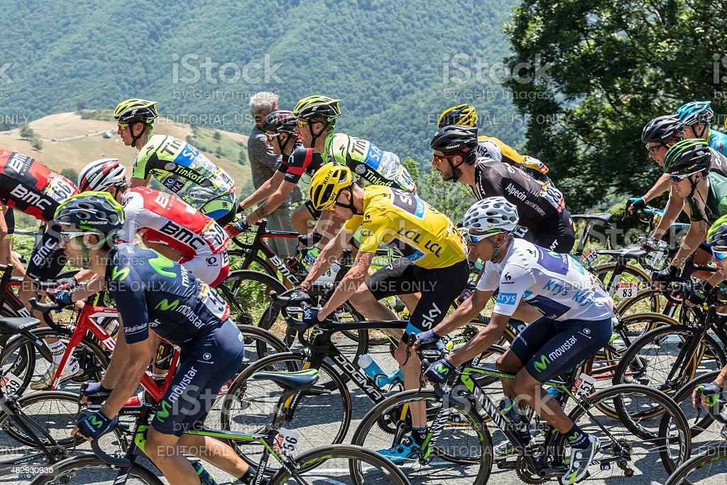 The Fight Inside the Peloton - Tour de France 2015 stock photo