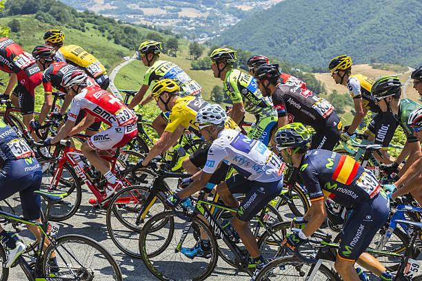 The Fight Inside the Peloton - Tour de France 2015 stock photo