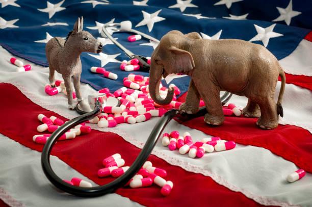 the fight over the affordable care act and healtcare concept - республиканская партия сша стоковые фото и изображения