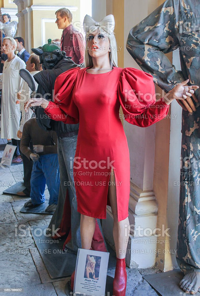 The figure of Lady Gaga. stock photo