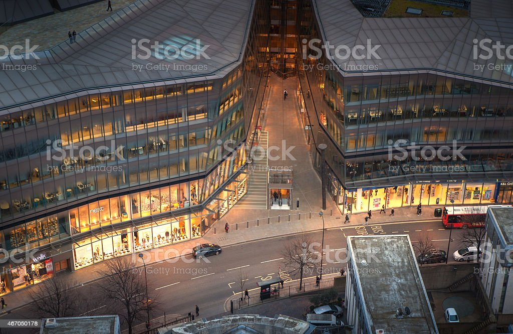 The financial hub in the City of London during sunset stock photo