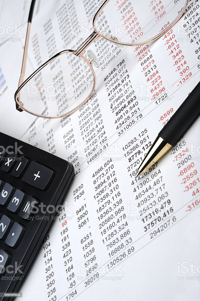 The financial report royalty-free stock photo
