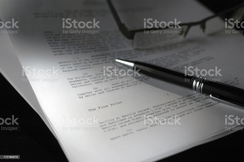 The Fine Print royalty-free stock photo