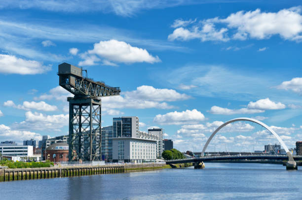 The Finnieston Crane, Clyde Arc and the River Clyde, Glasgow stock photo