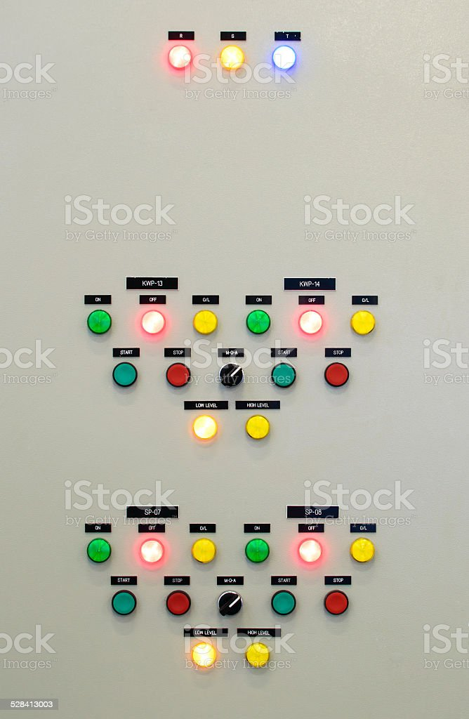 The fire control panel stock photo