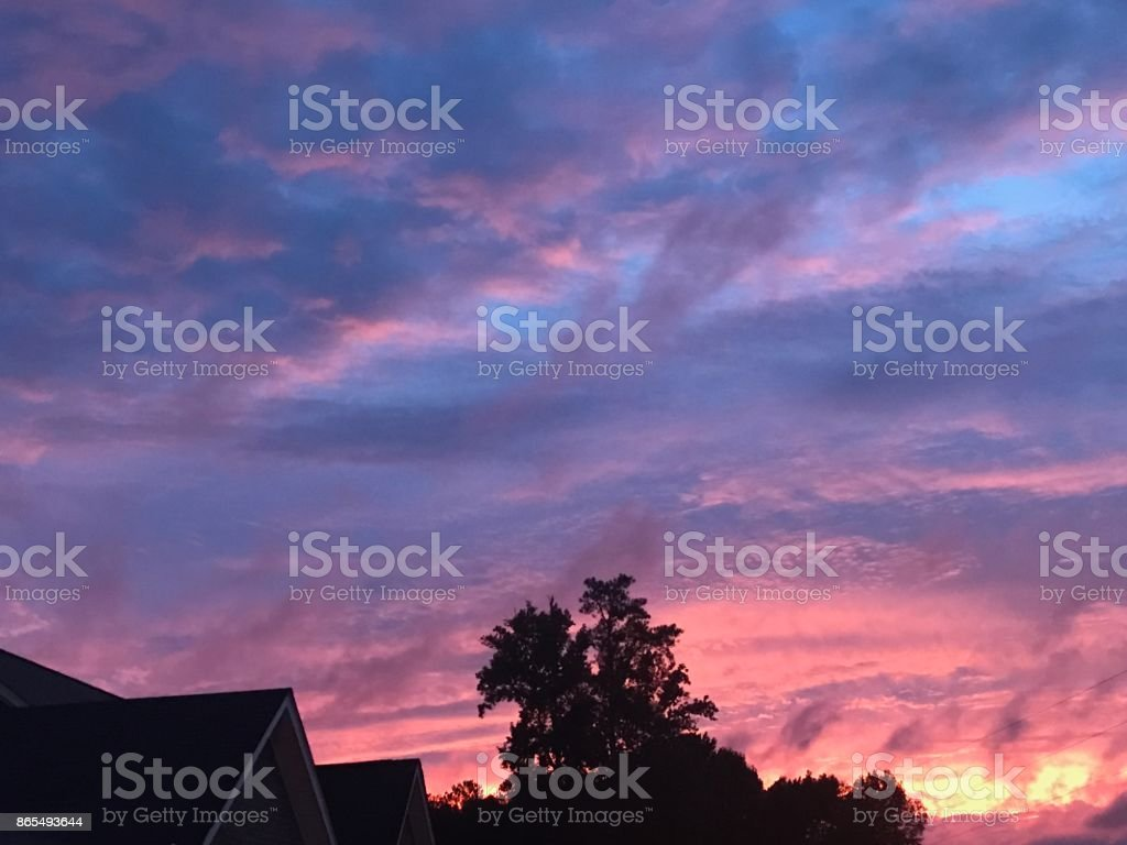 The Fire in the Sky stock photo