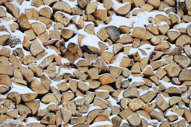 Photo of The firewood covered the snow
