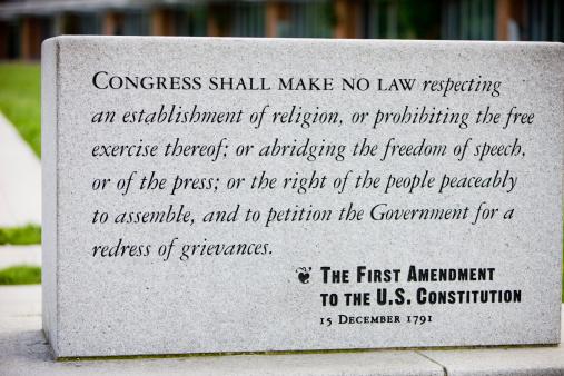 istock The First Amendment to U.S. Constitution, Philadelphia 458342239
