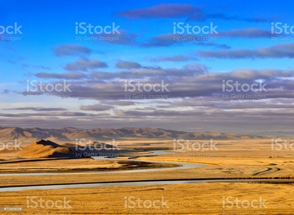 The First Bay of Yellow River, China stock photo