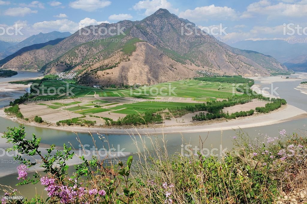 The First Bend of Yangtze River (Shigu Town) stock photo