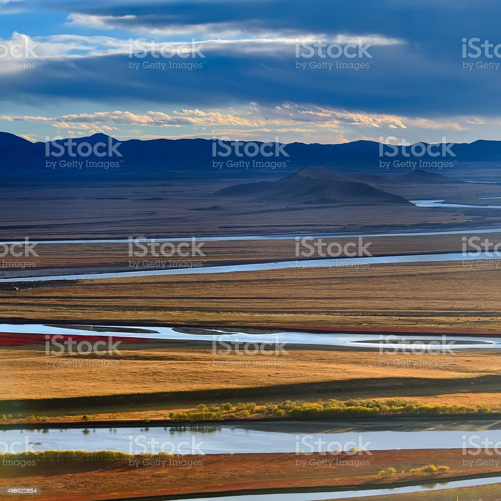 The first bend of Yellow river in China 005 stock photo