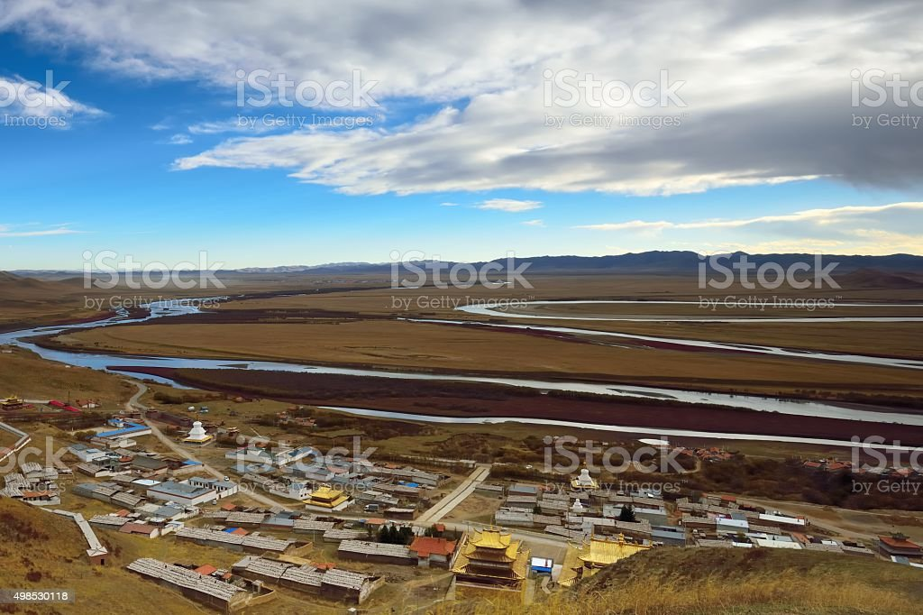 The first bend of Yellow river in China 010 stock photo