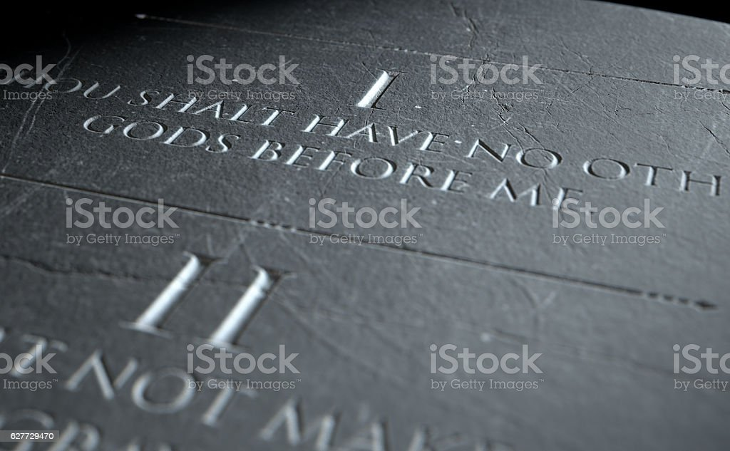 The First Commandment stock photo
