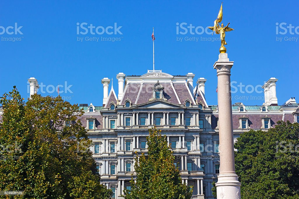 The First Division Monument, Washington DC. stock photo