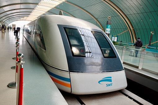 The first Maglev Train in Shanghai and China