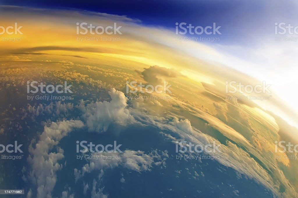 The First Sunlight of Planet Earth stock photo